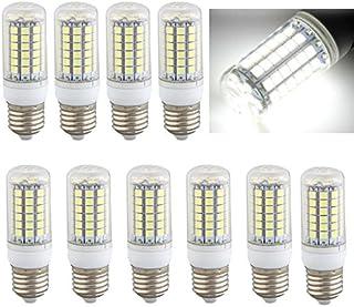 10 x E27 Bombilla Lámpara Foco 69 LED 5050 SMD 8W AC220V Luz Blanco Casa