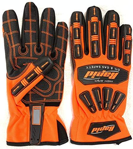 TPR-resistente, reduzierende, schlagfeste Mechaniker-Arbeitshandschuhe für Männer und Frauen, Outdoor-Sport-Handschuhe (Größe -XL)