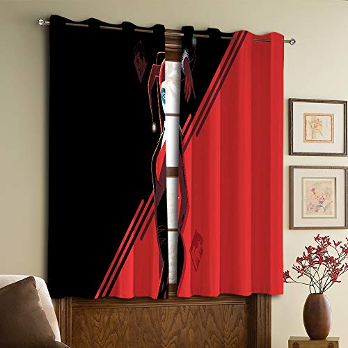 Harley Quinn Cortinas opacas, cortinas con ojales para dormitorio