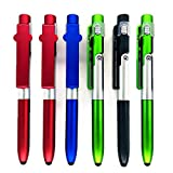 NNTTY 4 in 1 Stylus, Multi-Function Capacitive Pen with LED Flashlight, Ballpoint Pen,Mobile Phone Holder,Compatible With Most Phones and Touch Screen Devices,Gift Box Packaging(6-Pack)