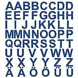 kleb-Drauf | 58 Buchstaben, Höhe je 2,5 cm | Blau - matt | Autoaufkleber Autosticker Decal Aufkleber Sticker | Auto Car Motorrad Fahrrad Roller Bike | Deko Tuning Stickerbomb Styling...