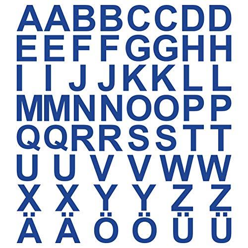 kleb-Drauf® | 58 Buchstaben, Höhe je 5 cm | Blau - glänzend | Autoaufkleber Autosticker Decal Aufkleber Sticker | Auto Car Motorrad Fahrrad Roller Bike | Deko Tuning Stickerbomb Styling Wrapping
