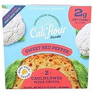 Cali'flour Foods Pizza Crust (Original Italian, 2 Crusts) - Fresh Cauliflower Base | Low Carb, High Protein, Gluten and Grain Free | Keto Friendly