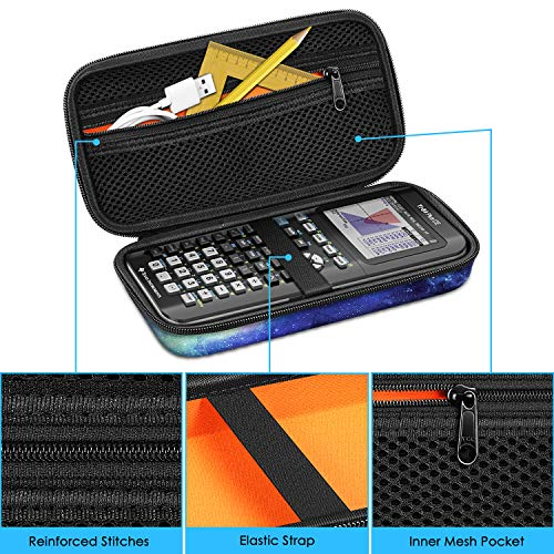 Graphing Calculator Carrying Case for TI-84 Plus CE, Fintie Hard EVA Shockproof Protective Box for TI-84 Plus/TI-83 Plus CE/Casio fx-9750GII (Galaxy) Photo #5