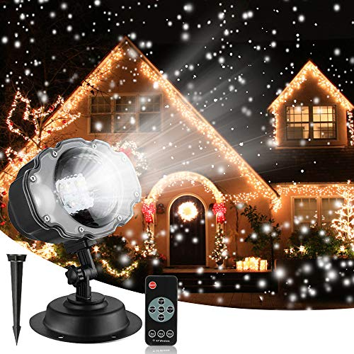 Christmas Snowfall Projector Lights, Syslux Indoor Outdoor Holiday Lights with Remote Control...