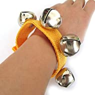 Wrist Bells - Includes Velcro Closure with 4 bells! (Yellow)