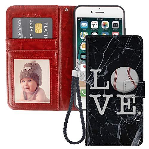 Naikuyi Custodia a portafoglio per iPhone 6 Plus, iPhone 6s Plus, con chiusura magnetica, per iPhone 6/6S Plus