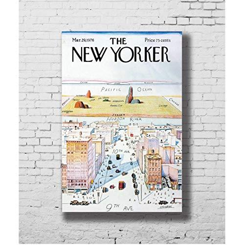 Zahuishile Plakate und Drucke Die New Yorker Hot Art Poster Leinwand Malerei Wohnkultur 40X60Cm ohne Rahmen
