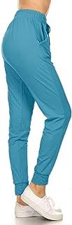 Leggings Depot JGA128-TURQUOISE-M Jogger Track Pants w/Pockets, Medium