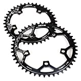 Narrow Wide 110mm BCD Chainring for Road Bike Bicycle 36T 38T 40T 42T 44T 46T 48T 50T 52T CNC Machined Alloy Fits 7 to 12 Speed Chains (36 Tooth)