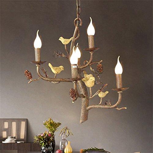 Global- American Village Retro Salon Restaurant Fer à repasser Chambre à coucher Creative Lampes individuelles Lampadaire Nordic Bird
