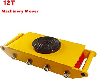 PROMOTOR Industrial Machinery Mover 12 Ton 26456 lbs, Machinery Skate with w/Steel Rollers Cap 360 Degree