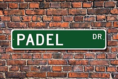 Unknow Padel, Padel, Padel, Padel, Padel, Padel Player, Padel, Regalo per Racchetta USA e Canadese, Tennis Squash, Cartello stradale personalizzato, Targa in metallo di qualità