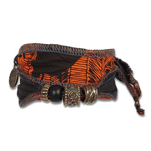 Anisch de la Cara Hombre Pulsera Fire Zulu - Pulsera Tribal de Abalorios para Hombres en Telas africanas Tribal Beads - Arte no 94400-c
