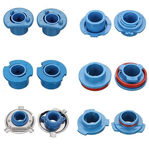 4 PCS Universal Durable LifeSpan Light Light Bombilla Bombilla Adaptador Socket Retenedor H1 / H3 / H4 / H7 / H11 / HB3 Base de lámpara de coche (Color : H1)