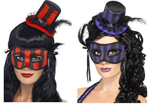 Aptafêtes - AC5515/VIOLET - masque et chapeau burlesque - noir et violet