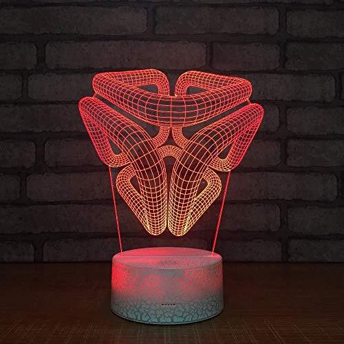 Hologram lamp nachtlampje dinosaurus met ABS en acrylbasis vlak en USB-oplader geschikt voor de decoratie van de kinderkamer Interruttore del telecomando Stile 495
