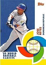 Jose Reyes baseball card 2009 Topps World Classic #BCS6 Dominican Republic Insert set