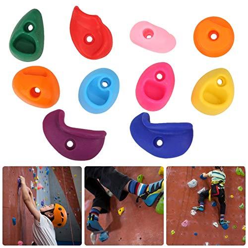 Shipenophy Soportes para Escalada Apretones de Pared Grandes Multicolores Accesorios sólidos de Seguridad para Exteriores para Trabajos a Gran Altura para montañismo(Pack of 10 Medium)