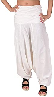 Sharvgun Pure Cotton Baggy Hippie Boho Gypsy Aladdin Yoga Harem Pants Indian Trouser Yoga Pant