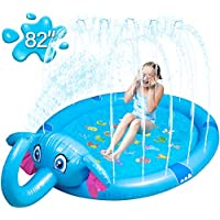 Mademax Inflatable Upgraded 82 Inch Sprinkle & Splash Play Mat for Children, Infants, Toddlers, Boys, Girls and Kids