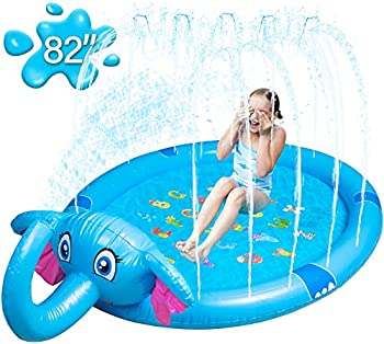Mademax Inflatable Upgraded 82 Inch Sprinkle & Splash Play Mat