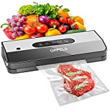 ORFELD Vacuum Sealer Machine, Automatic Food Sealer for Food Savers with Starter Kit, Dry & Moist Modes, LED Screen Indicator, Compact Vacuum Sealer, Easy to Clean, Black