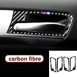 Placas decorativas For BMW F70 F71 X5 X6, mango de fibra de carbono de la puerta interior del coche de ajuste de la cubierta de la puerta Bowl, pegatinas, color: X5 E70 accesorios de decoración de coc