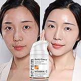 ColorfulLaVie Hyaluronsäure Vitamin C Gesichtscreme, Feuchtigkeitsspendende, pflegende Gesichtscreme gegen Falten und Hautalterung