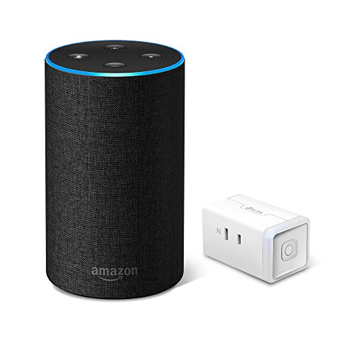 Echo 第2世代 - スマートスピーカー with Alexa、チャコール + TP-Link WiFi スマートプラグ 直差しコンセ...