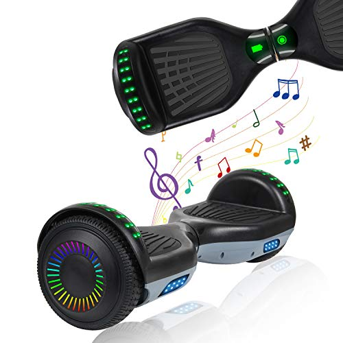 """YHR 6.5"""" Hoverboard LED Lights Smart Self Balancing Hoverboard and Two-Flashing Wheel with UL2272 Certified for Kids and Adults"""