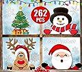 Christmas Window Clings,Funnlot Christmas Window Decorations Christmas Window Decals Christmas Window Sticker Santa Snowman Snow Window stickers Home School Office Adornos Navideños Para El Hogar