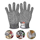 Jolintek Guantes Anticorte, Guantes Resistentes a Los Cortes Nivel 5 Seguridad para Cocina Trabajo Mecanico y Jardín Guantes Resistentes al Corte de Proteccion Guantes Anticorte para Niños (XXS)