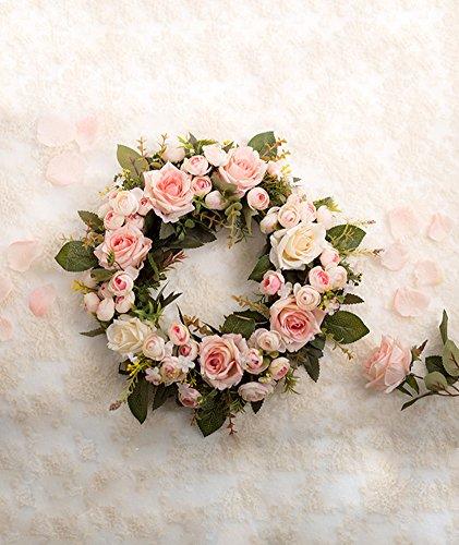 AKDSteel ghirlanda di fiori artificiali ghirlanda di peonie 33 cm ghirlanda di fiori artificiali decorativa ghirlanda di fiori artificiali decorazione per la porta anteriore o la casa per matrimoni