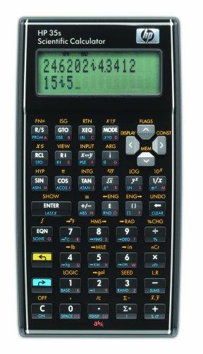 HP 35S - Calculadora financiera (desconexión automática) con funda, color negro