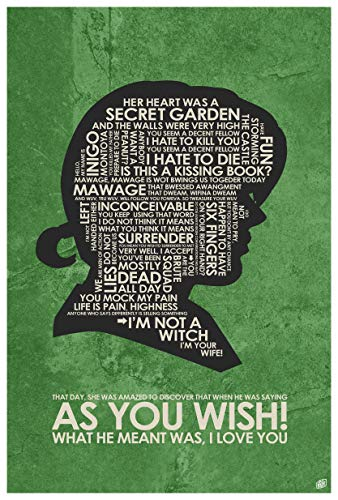 As You Wish Giclee Art Print Poster from Typography Drawing by Pop Artist Stephen Poon 12' x 18'