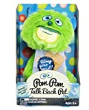 Tech2Go Wearable Pom Pom Talk Back Pet (Green Monster)