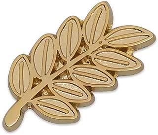 Acacia Sprig Gold Masonic Lapel Pin - 1