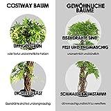 COSTWAY Zimmerpflanze Deko, Kunstpflanze grün, Dekopflanze künstlich, Kunstbaum Pflanzendekoration Innendekoration für Zuhause Garten Büro (160x19x19cm) - 6
