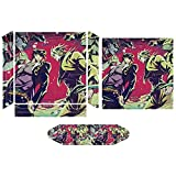 Josuke Higashikata Soul Jojos Bizarre Adventure PS4 sticker skin, console and controller full protection, accurate hole position and whole body decals are suitable for PS4 pro