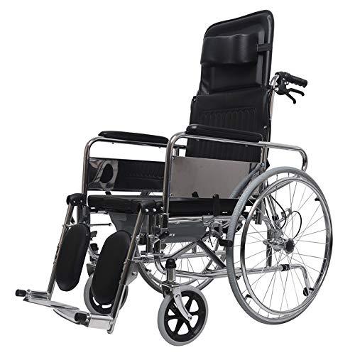MYYLY rolstoel, opvouwbaar, draagbaar, transport-rolstoel, kantelbare rugleuning, hoofdsteun, hulp van oudere mensen of uitgeschakeld reizen van Walker rolstoelen