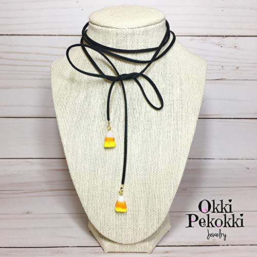 candy corn necklace - 1