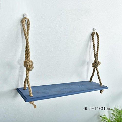 Wanddecoratie Planken Wandplanken Effen Hout Hennep Touw Hangers Creatieve Kamer Gratis Geperforeerde Opslag Planken Wandmontage Plank
