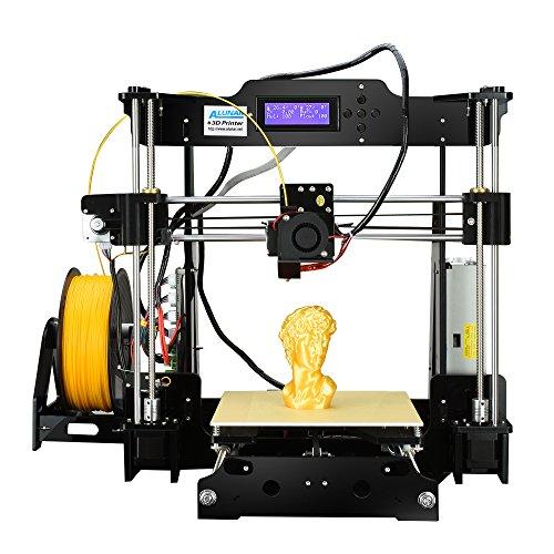 ALUNAR Reprap stampante 3D Prusa i3 kit 3D Printer DIY fai da te con filamento