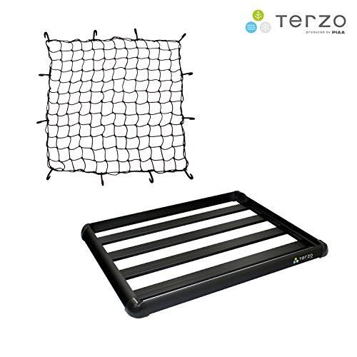 【Amazon.co.jp 限定】Terzo テルッツォ (by PIAA) ルーフラック 長さ:130cm x 幅:105cm & カーゴネットセ...