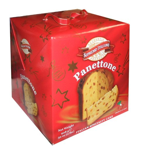 Supremo Italiano Panettone 2 Pound Thanksgiving Holiday Italian Specialy Cake