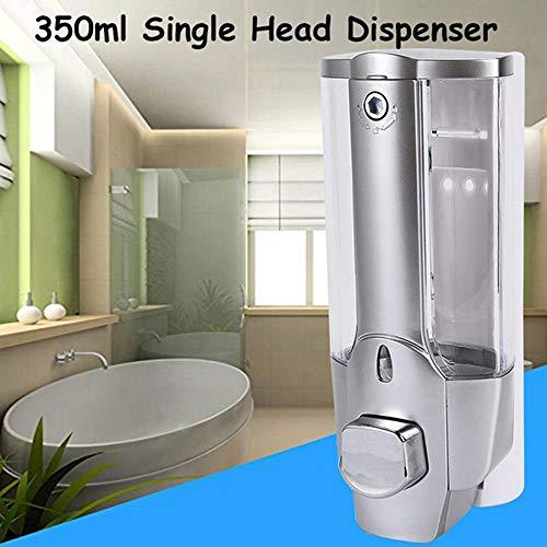 None 350ML Seifenspender (zur Wandmontage, nachfüllbarer Flüssigseifenspender, Lotionspender aus Kunststoff für Küchen und Badezimmer