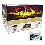 Hawaiian Isles Vanilla Macadamia Nut Single Serve Coffee K-Cup Compatible Pods Kona 80 Count With Rhythm Touch Fog Wipe