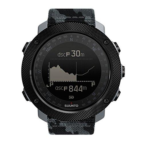Suunto - Traverse Alpha - SS023446000 - Reloj GPS Outdoor para pesca, caza y excursionismo - Sumergible - Edición Concrete (Negro y gris camuflaje) - Talla única