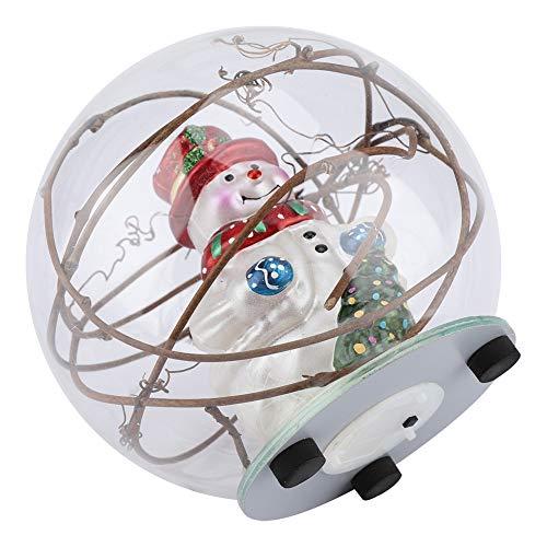 Lámpara de bola de vidrio de borosilicato de alta calidad, bola de vidrio LED, bola de vidrio de luz colorida para sala de estar, oficina en casa (árbol y ratán)